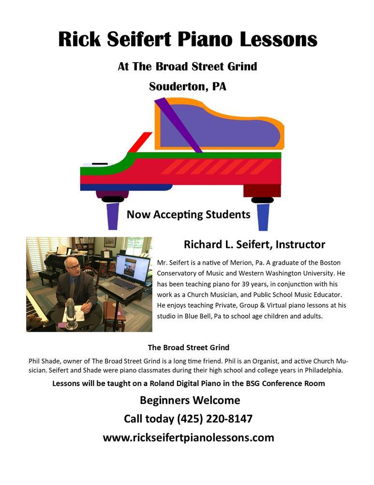 2020 Rick Seifert Piano Lessons Broad Street Grind Advertisment TN